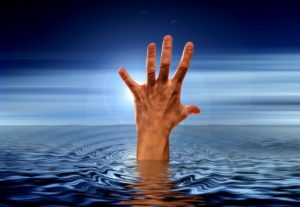 hand, sea, water